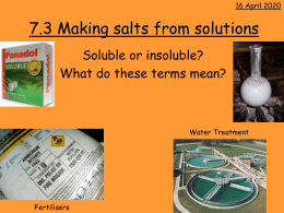7.3 Making salts from solutions