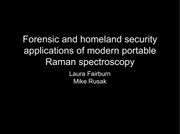 Forensic and homeland security applications of modern portable