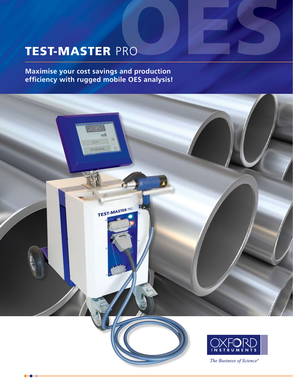 TEST-MASTER PRO an OES spectrometer analyzer for metal analysis