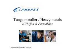 Tunga metaller / Heavy metals