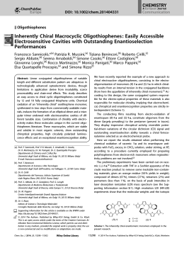 Inherently Chiral Macrocyclic Oligothiophenes: Easily Accessible