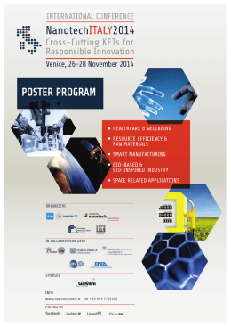 NanotechItaly Poster Session Program
