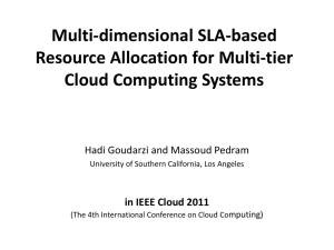 Multi-dimensional SLA-based Resource Allocation for Multi
