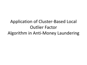 Application of Cluster-Based Local Outlier Factor