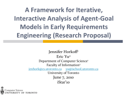 A Framework for Iterative, Interactive Analysis of Agent