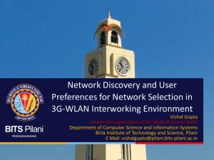 Network Discovery and User Preferences for Network Selection in