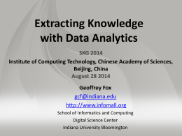 Extracting Knowledge with Data Analytics