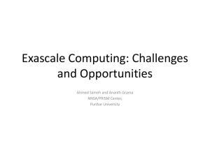 Exascale Computing: Challenges and