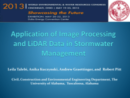Impervious Area Detection By LiDAR and Satellite Image