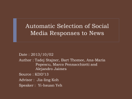 Automatic Selection of Social Media Responses to News