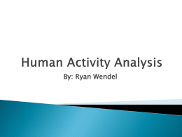 Human Activity Analysis