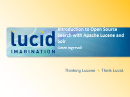 Introduction to Open Source Search with Apache Lucene and Solr