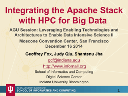 Integrating the Apache Stack with HPC for Big Data