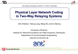 Physical Layer Network Coding in Two