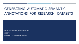 Generating Semantic Annotations For Research Datasets