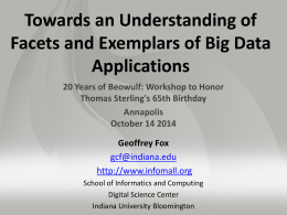 Towards an Understanding of Facets and Exemplars of Big Data