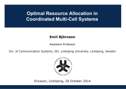 Optimal Resource Allocation in Coordinated Multi