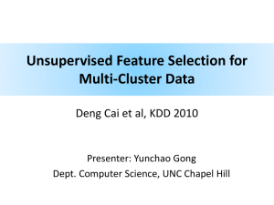 Unsupervised Feature Selection for Multi