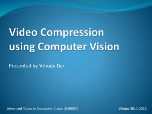 Video Compression using Computer Vision