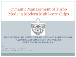 Dynamic Management of Turbo Mode in Modern Multi