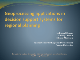 Geoprocessing applications in decision support systems for