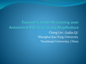 Toward Scalable Reasoning over Annotated RDF Data Using