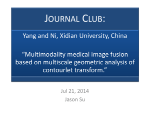 Journal Club - Image Fusion