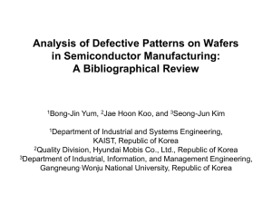 Analysis of Defective Patterns on Wafers in