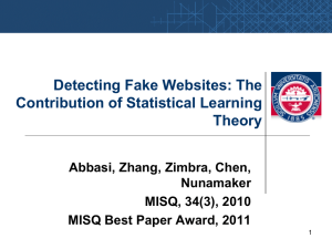 Detecting Fake Websites: The Contribution of Statistical Learning