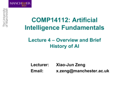 Artificial Intelligence Fundamentals Lecture 1