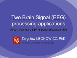 EEG filtering based on blind source separation (BSS)