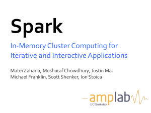 In-Memory Cluster Computing for Iterative and Interactive