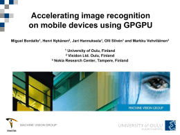 GPU-accelerated image recognition
