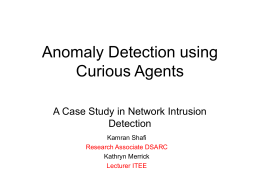 Anomaly Detection Using Curious Agents: A Case Study in Network