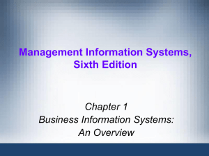 Business Information Systems Overview - College of Micronesia