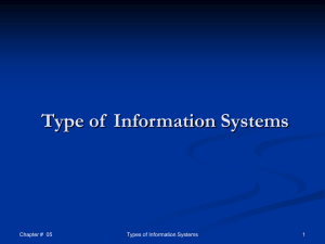 Business Process - information systems and it audit