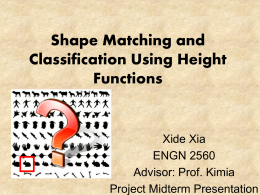 Shape Matching and Classification Using Height Functions