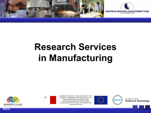 ICT in Manufacturing - Manufacturing Research Platform