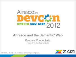 Alfresco and the Semantic Web