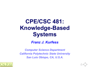 Csc 480 Artificial Intelligence