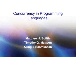 PPT - Introduction to Concurrency in Programming Languages
