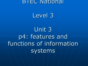 p4 - describe the featurs and functions of information systems
