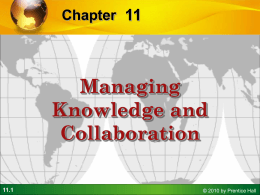 Management Information Systems Chapter 11 Managing