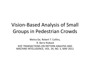 Vision-Based Analysis of Small Groups in Pedestrian Crowds