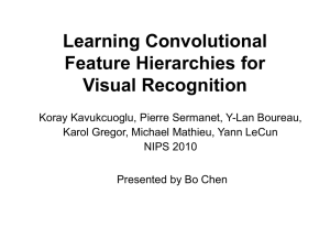 Learning Convolutional Feature Hierarchies for Visual Recognition