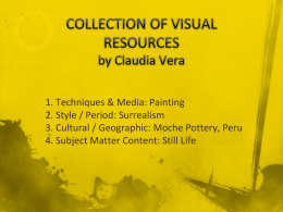 Collection of Visual Resources ARE 4341
