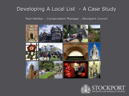Developing A Local List - Blackpool Borough Council