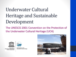 Underwater Cultural Heritage and Sustainable Development