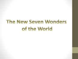 The New Seven Wonders of the World 2