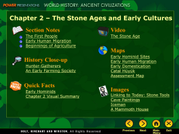 Chapter 2 – The Stone Ages